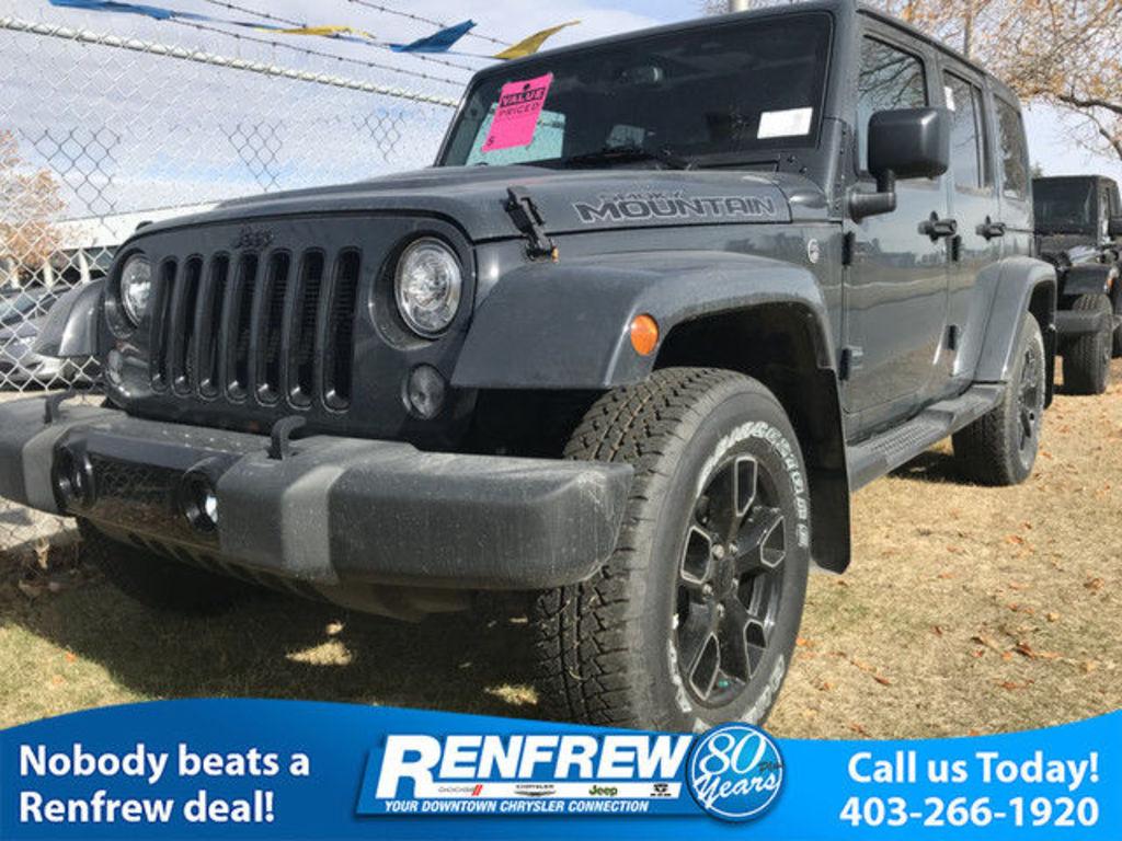 2017 jeep wrangler unlimited sahara - calgary