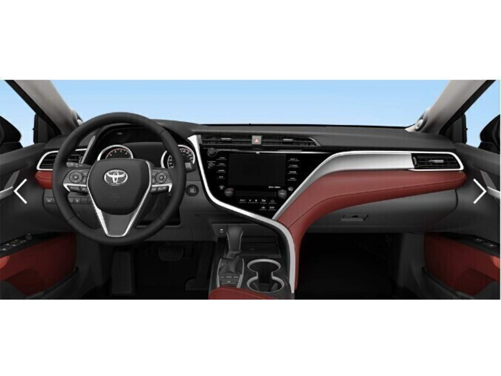 2019 Toyota Camry Xse With Red Leather Interior