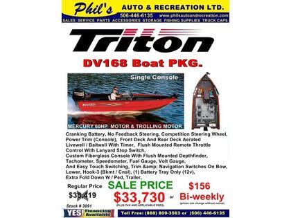 2016 Triton Boats 168 DV - Lincoln
