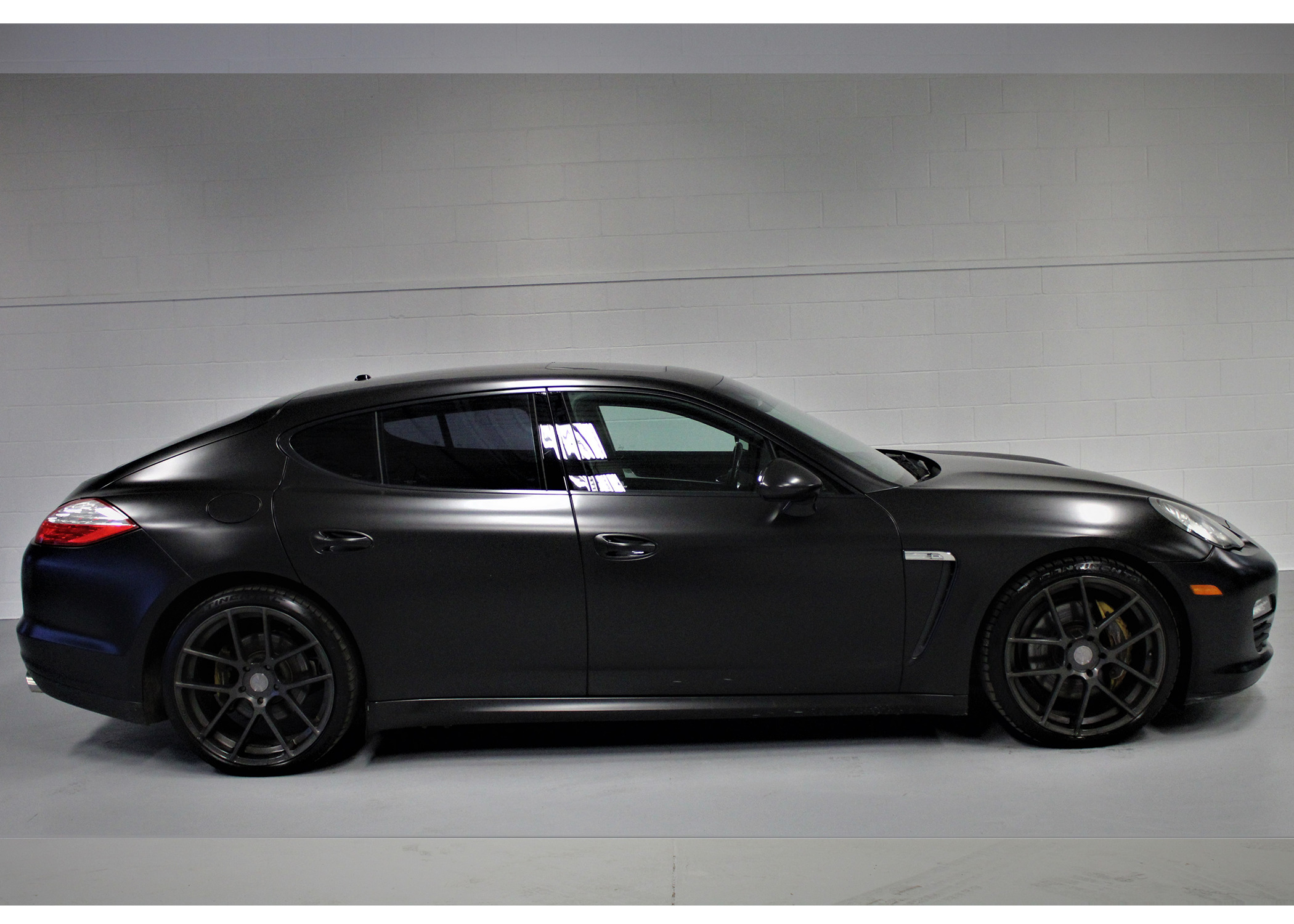 2011 Porsche Panamera Flat Black Wrap 21 Wheels We Approve All Credit Mississauga
