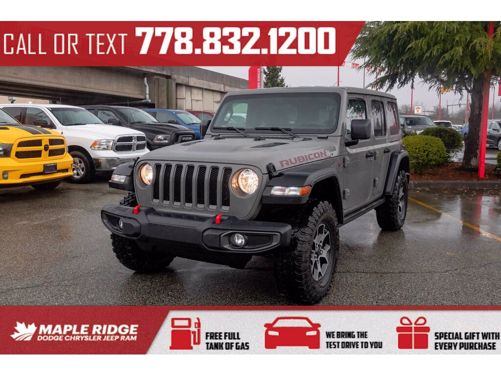 2021 Jeep Wrangler Rubicon 1 Owner 2 0l Turbo Alpine Audio 4x4 Maple Ridge